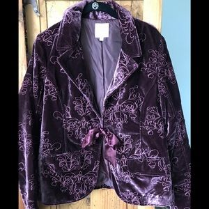 Old Navy Velvet Embroidered Blazer